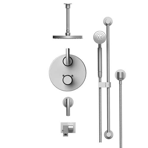 RUBINET H2O 28HOL TEMPERATURE CONTROL SHOWER WITH TWO WAY DIVERTER & SHUT-OFF, WITH ONE SEPERATE VOLUME CONTROL, HAND HELD SHOWER, BAR, INTEGRAL SUPPLY WALL MOUNT BIDET/FOOT RINSE & LASALLE SHOWER HEAD & ARM, 8