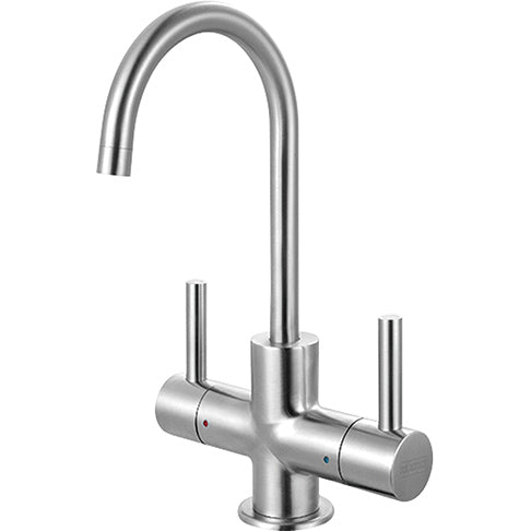 FRANKE  LB13250  STEEL LITTLE BUTLER HOT/COLD WATER DISPENSER FAUCET, TWO HANDLES, SIDE LEVER - FaucetMart