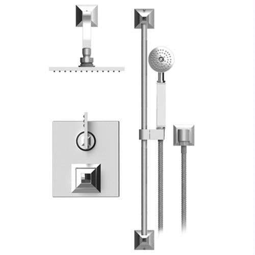 RUBINET ICE 22ICL TEMPERATURE CONTROL SHOWER WITH TWO WAY DIVERTER & SHUT-OFF, HAND HELD SHOWER, BAR, INTEGRAL SUPPLY & FIXED SHOWER HEAD & ARM 8