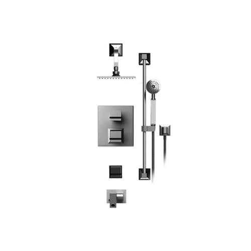 RUBINET MATTHEW QUINN 31MQL TEMPERATURE CONTOL SHOWER WITH TWO WAY DIVERTER & SHUT-OFF, WITH ONE SEPERATE VOLUME CONTROL, HAND HELD SHOWER, BAR, INTEGRAL SUPPLY, TWO BODY SPRAYS & FIXED SHOWER HEAD & ARM 8