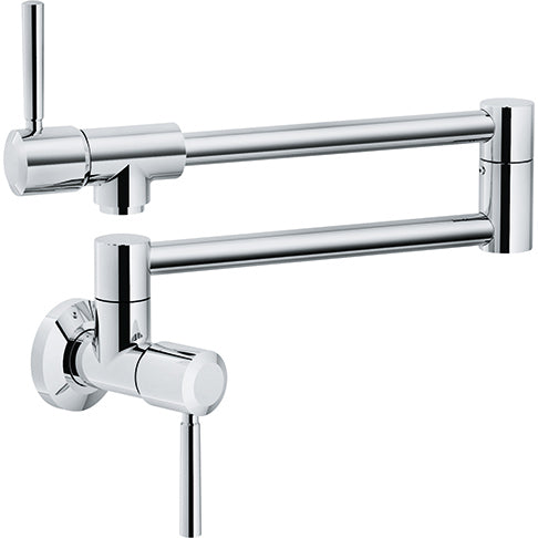 FRANKE  PF5200  FRANKE ABSINTHE, WALLMOUNT POT FILLER, COLD ONLY, POLISHED CHROME FINISH - FaucetMart