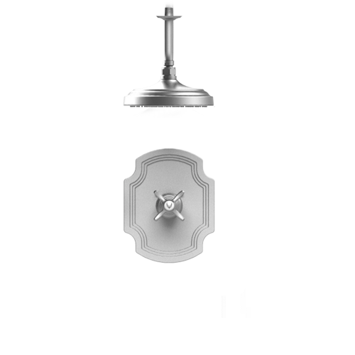 RUBINET Raven 203RVC PRESSURE BALANCE SHOWER WITH FIXED SHOWER HEAD & ARM 8