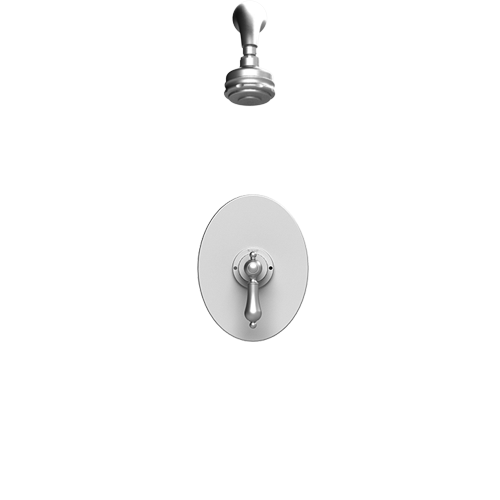 RUBINET Romanesque 201RML PRESSURE BALANCE SHOWER WITH FIXED SHOWER HEAD & ARM 3 FUNCTION WALL MOUNT TRIM ONLY - FaucetMart