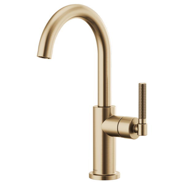 BRIZO 61043LF BAR FAUCET WITH ARC SPOUT AND KNURLED HANDLE - FaucetMart