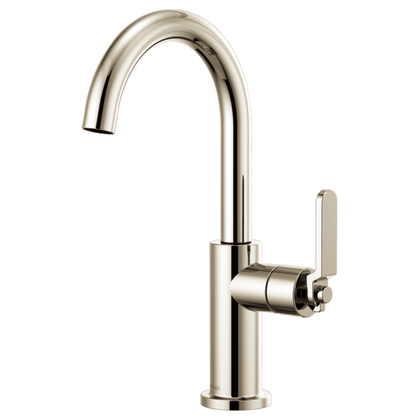 BRIZO 61044LF BAR FAUCET WITH ARC SPOUT AND INDUSTRIAL HANDLE - FaucetMart