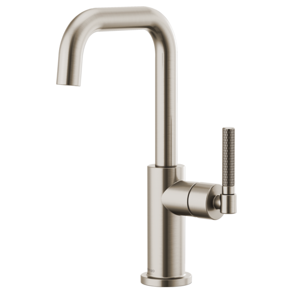 BRIZO 61053LF BAR FAUCET WITH SQUARE SPOUT AND KNURLED HANDLE - FaucetMart