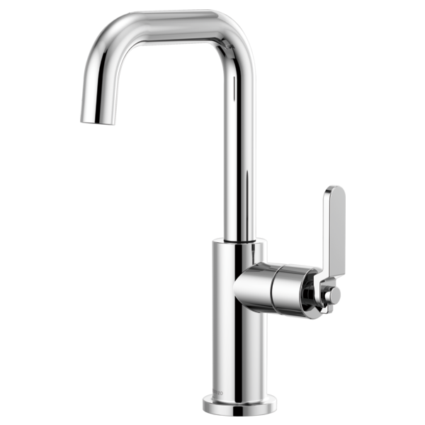 BRIZO 61054LF BAR FAUCET WITH SQUARE SPOUT AND INDUSTRIAL HANDLE - FaucetMart