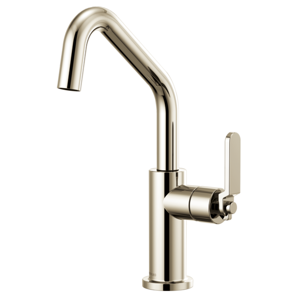 BRIZO 61064LF BAR FAUCET WITH ANGLED SPOUT AND INDUSTRIAL HANDLE - FaucetMart