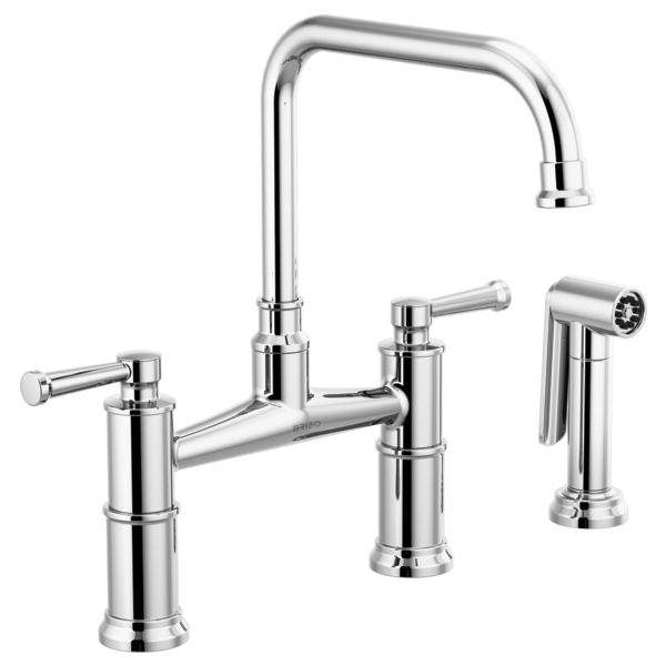 BRIZO  62525LF  TWO HANDLE BRIDGE KITCHEN FAUCET WITH SPRAY - FaucetMart