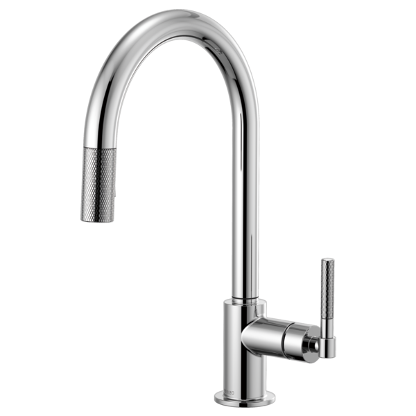 BRIZO  63043LF  ARC SPOUT PULL-DOWN, KNURLED HANDLE - FaucetMart