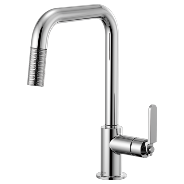 BRIZO  63054LF  SQUARE SPOUT PULL-DOWN, INDUSTRIAL HANDLE - FaucetMart