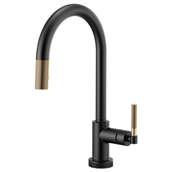 BRIZO  64043LF  ARC SPOUT PULL-DOWN WITH SMARTTOUCH, KNURLED HANDLE - FaucetMart