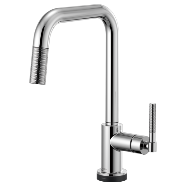 BRIZO  64053LF  SQUARE SPOUT PULL-DOWN WITH SMARTTOUCH, KNURLED HANDLE - FaucetMart