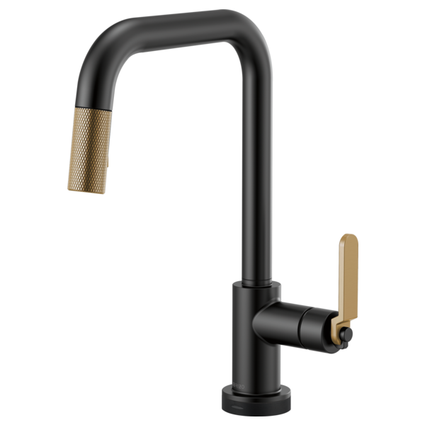 BRIZO  64054LF  SQUARE SPOUT PULL-DOWN WITH SMARTTOUCH, INDUSTRIAL HANDLE - FaucetMart