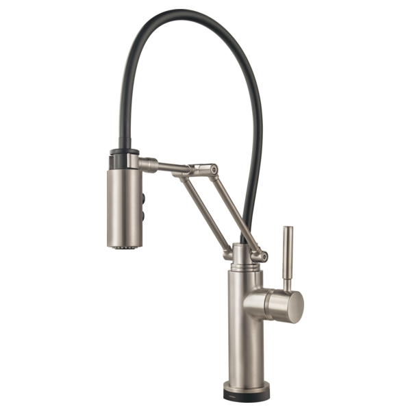 BRIZO  64221LF  SINGLE HANDLE ARTICULATING ARM KITCHEN FAUCET WITH SMARTTOUC - FaucetMart