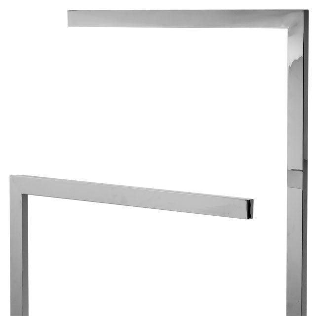 Laloo Floor Stand Double Towel Bar 9016 - FaucetMart