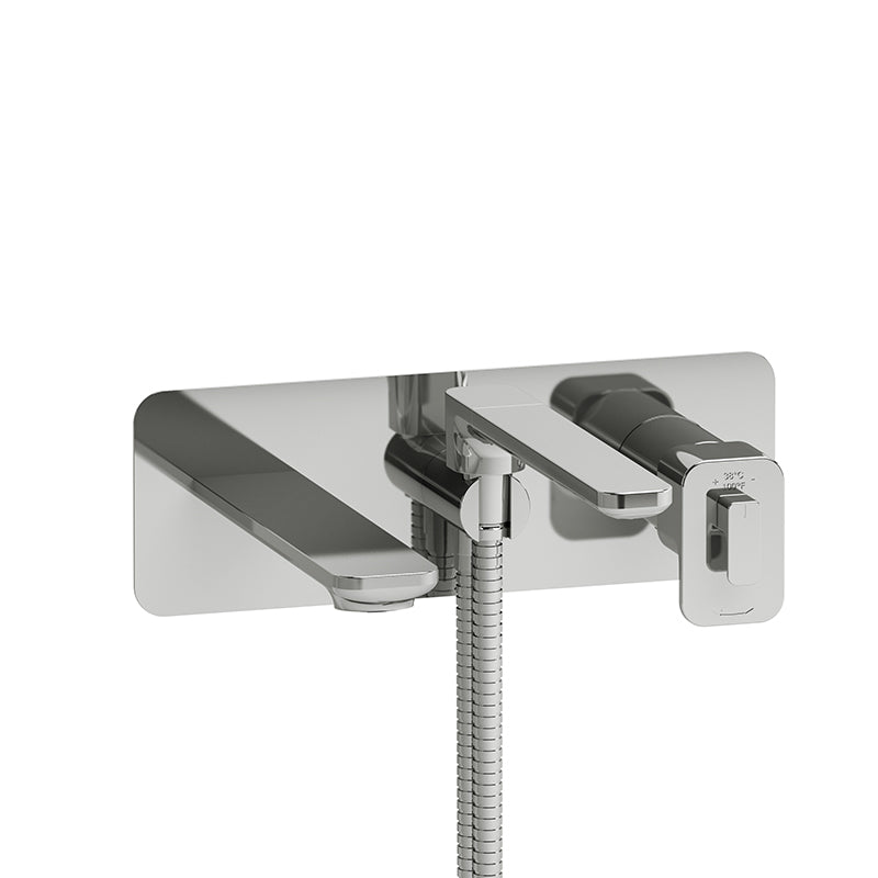 RIOBEL EQ21C WALL-MOUNT TYPE T/P (THERMO/PRESSURE BALANCE) COAXIAL TUB FILLER WITH HAND SHOWER - FaucetMart