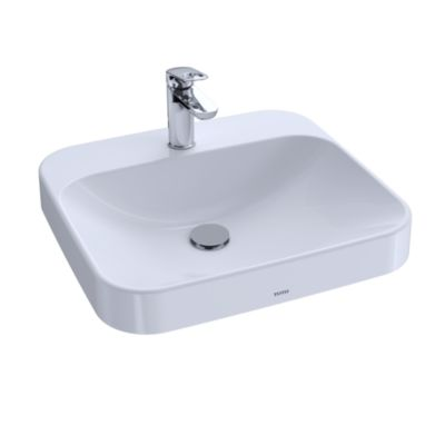 TOTO LT415G#01 ARVINA RECTANGLE VESSEL LAV INSET, 20