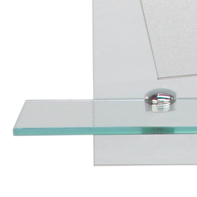 Angled Mirror on Clear Rectangle Glass M00198 - FaucetMart