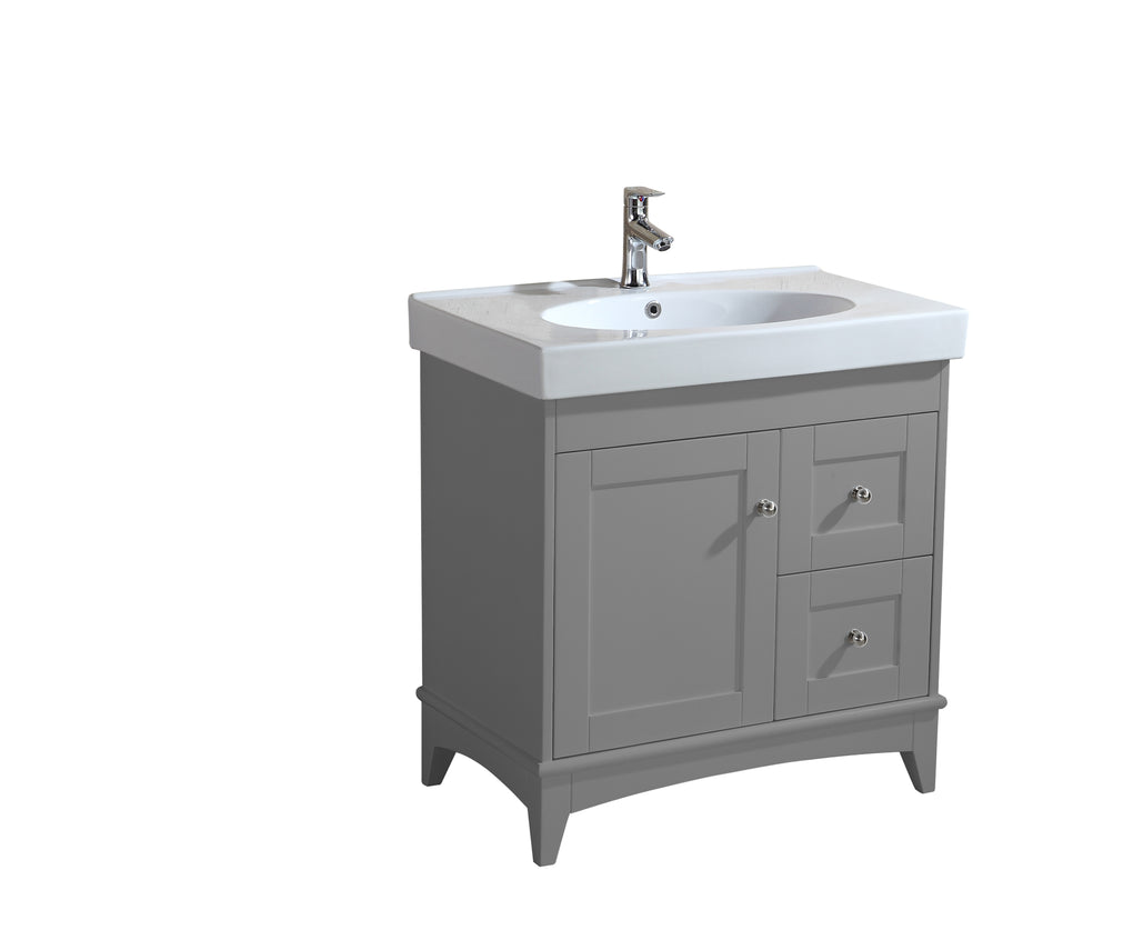 Vanitity Chunky Porcelain Seamless Counter And Sink - FaucetMart