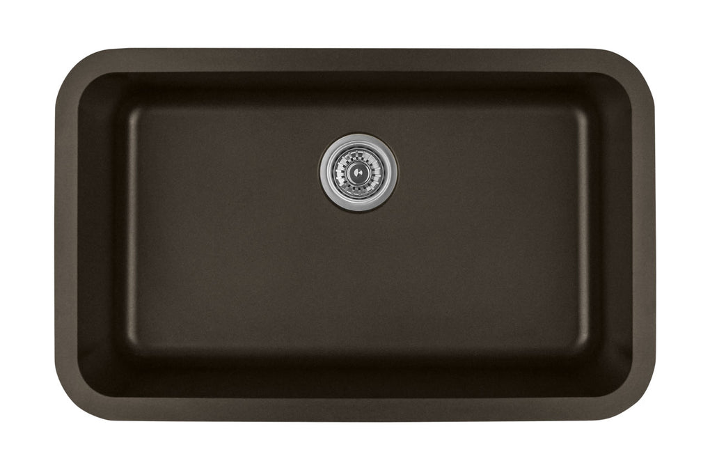 KARRAN Q340BL EXTRA LARGE SINGLE BOWL  QT SERIES - QUARTZ - TOP MOUNT KITCHEN SINK - FaucetMart