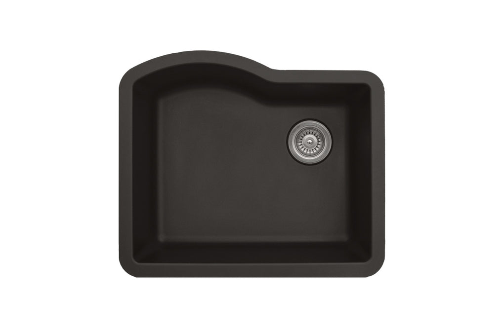 KARRAN QU671BL SINGLE BOWL QU SERIES - QUARTZ UNDERMOUNT KITCHEN SINK - FaucetMart
