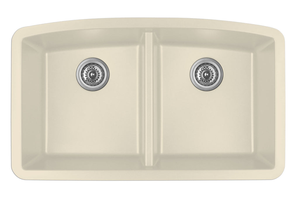 KARRAN QU710BL DOUBLE EQUAL BOWL QU SERIES - QUARTZ UNDERMOUNT KITCHEN SINK - FaucetMart