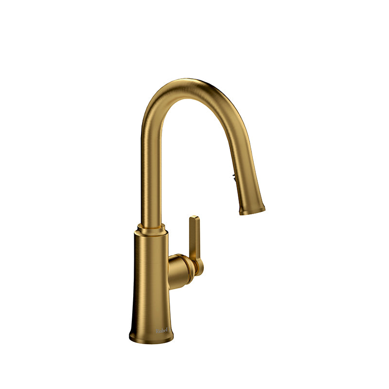RIOBEL TTRD101BG TRATTORIA KITCHEN FAUCET WITH SPRAY - FaucetMart