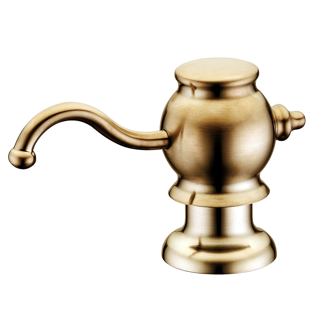 WHITEHAUSE WHSD030 Solid Brass Soap/Lotion Dispenser - FaucetMart