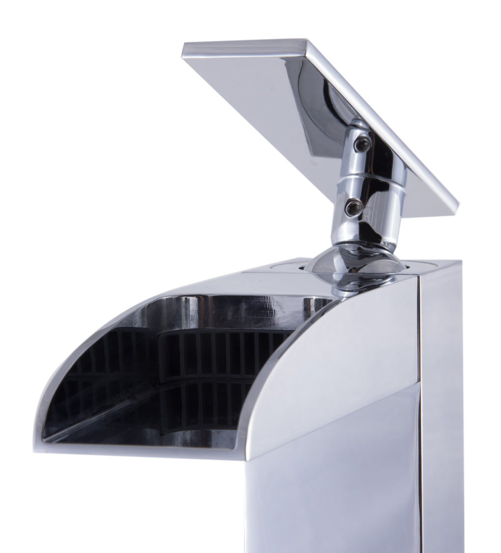 ALFI Single Hole Tall Waterfall Bathroom Faucet - FaucetMart