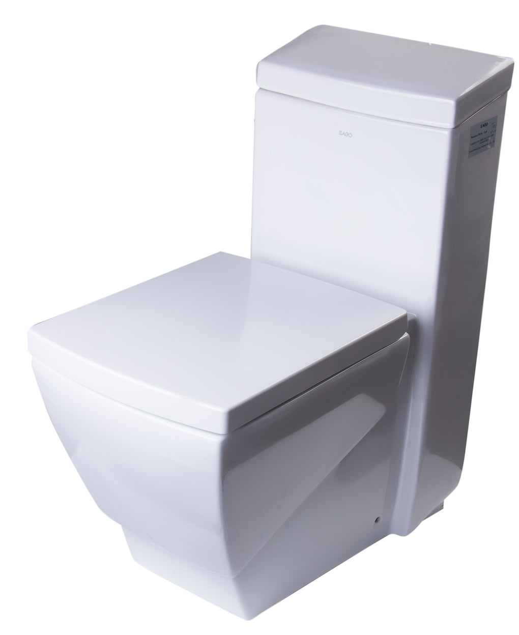 EAGO TB336 ONE PIECE HIGH EFFICIENCY LOW FLUSH ECO-FRIENDLY CERAMIC TOILET - FaucetMart