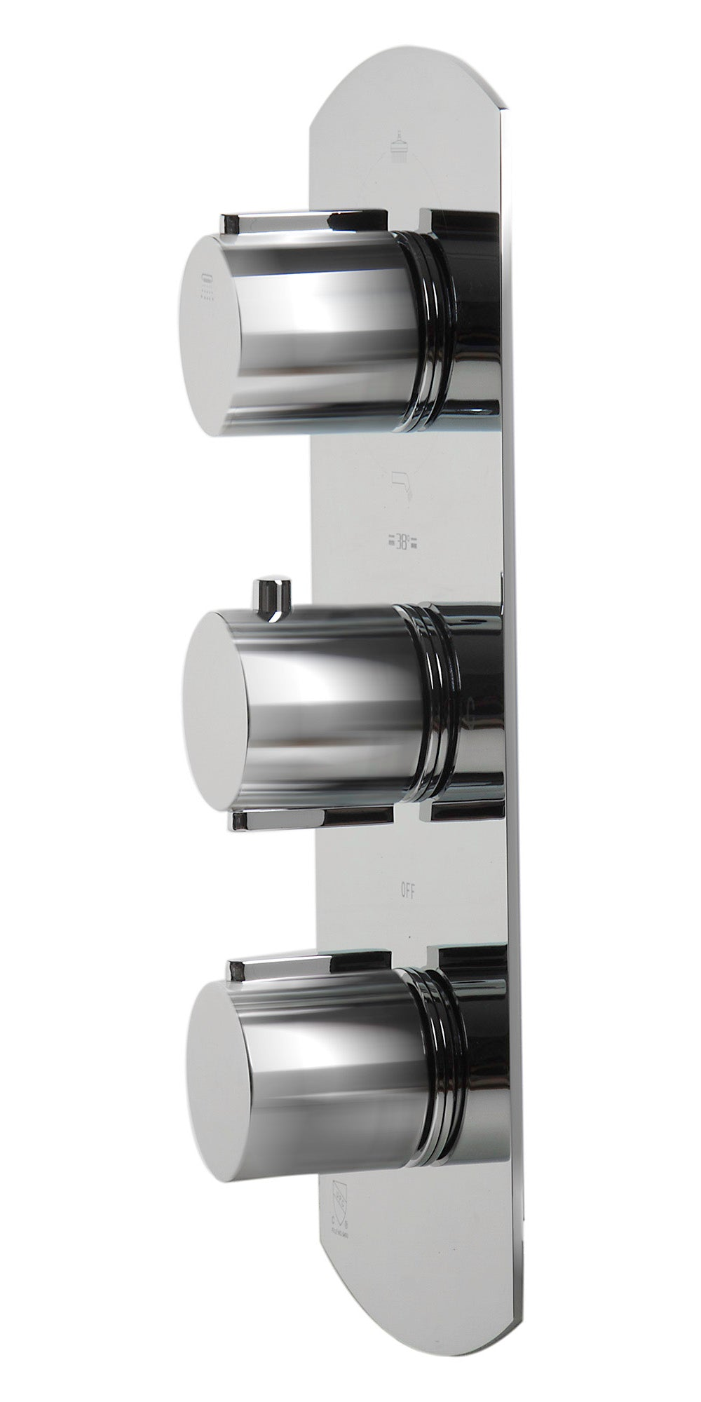 ALFI Concealed 4-Way Thermostatic Valve Shower Mixer /w Round Knobs - FaucetMart