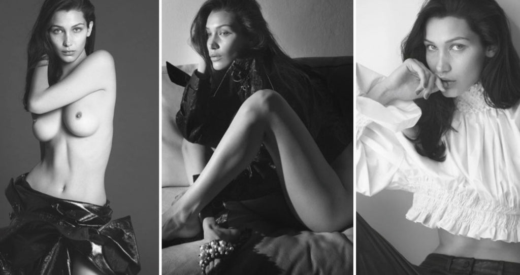 Bella Hadid goes Topless for Vogue Paris