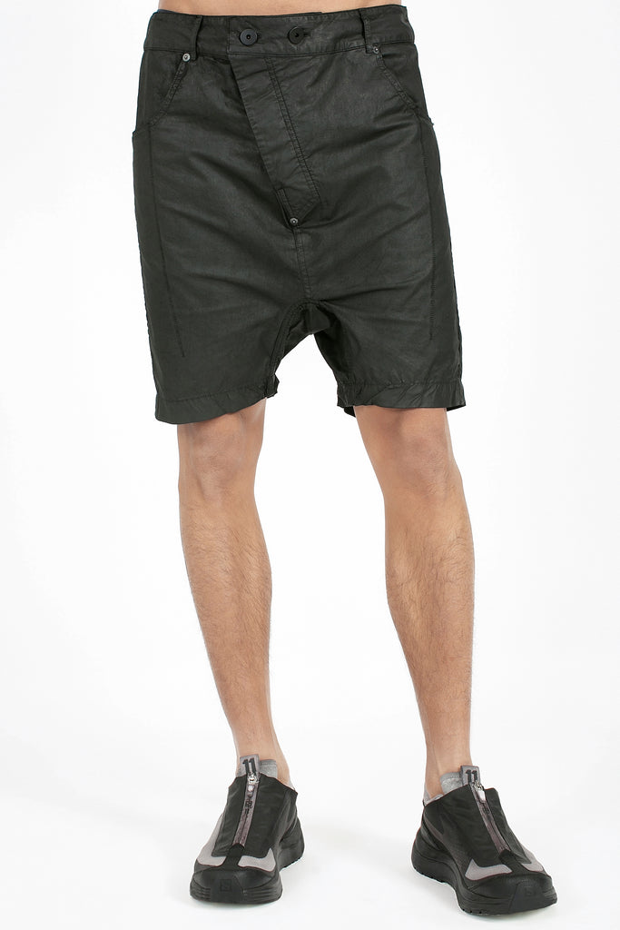 Black Coated Shorts