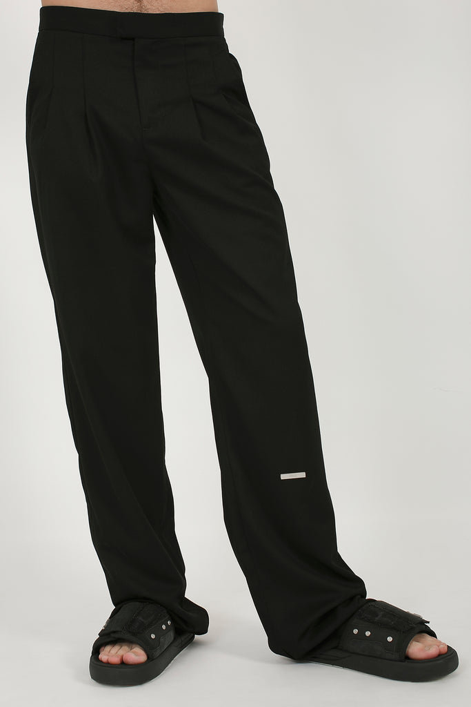 Pleated Turn-up Tailored Trousers