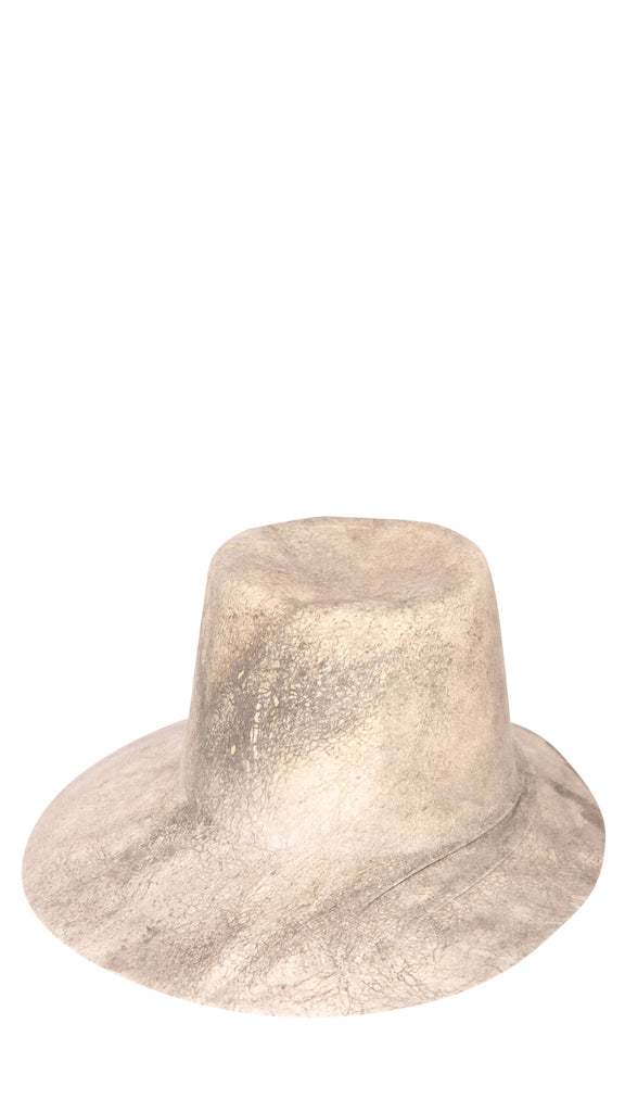 REINHARD PLANK - Grey & White Splash Hat