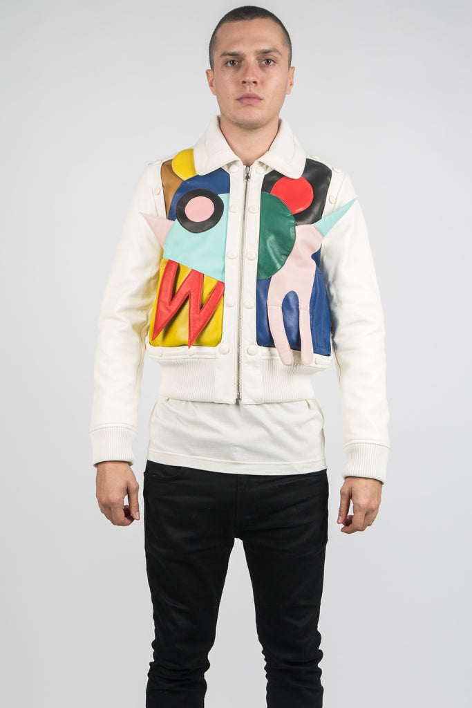 Abstract Leather Jacket