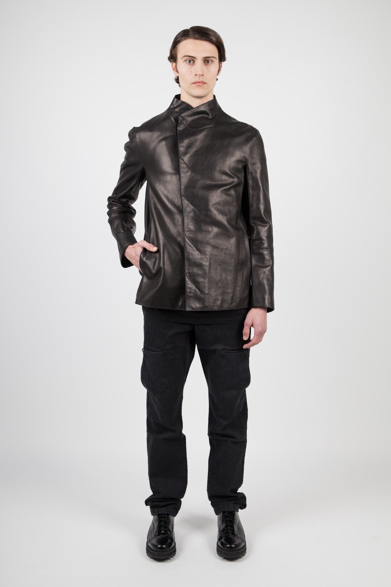 Y/PROJECT - HORSE LEATHER JACKET