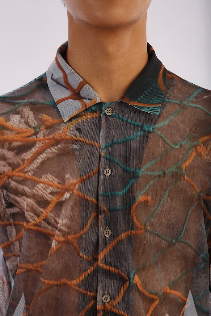 'Fish Nets' Mesh Shirt