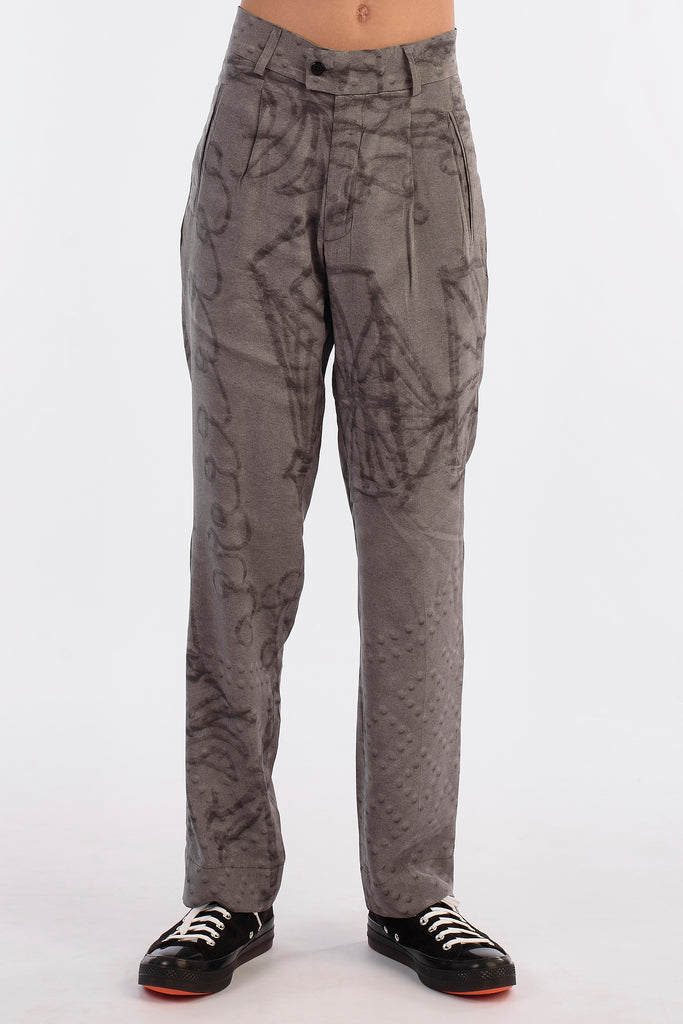Grey Napkin Trousers