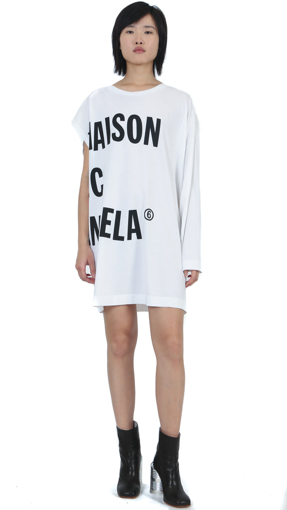 MM6 Maison Margiela - Asymmetric Sleeve Oversized Dress T-Shirt