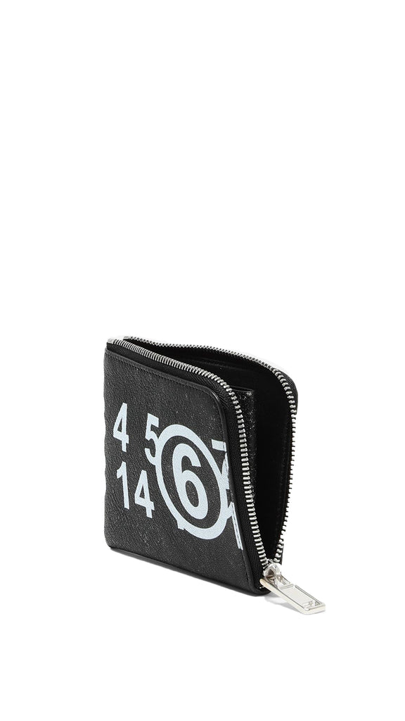 MM6 Maison Margiela - Logo Zip-Around Small Wallet