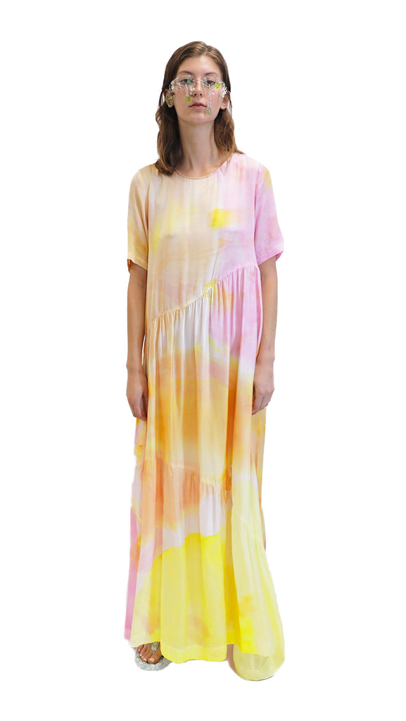 COLLINA STRADA - TIE DYE RITUAL DRESS
