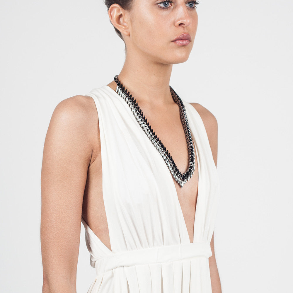 ELLEN CONDE - NECKLACE - WHITE JET CRYSTALS