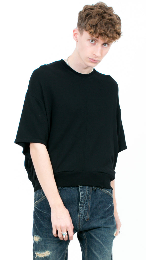 JULIUS - Short Sleeve Sweatshirt Black