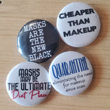 "Pin back buttons: Sold in sets of 2 - Group 10 ""All about masks"""