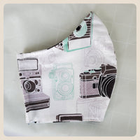 Large and medium sized camera print retro mask