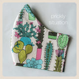 Prickly situation cactus face covers size medium