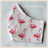 On fridays we flaunt flamingos face covers size small