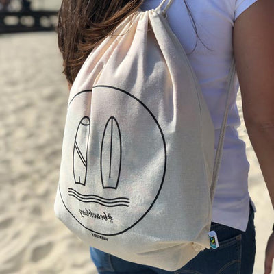 "Beachbag ""surf"" - Fairtrade Turnbeutel"
